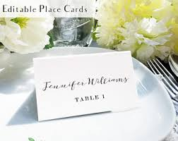 place setting cards etsy