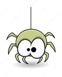 funny cute spider halloween vector illustration u2014 stock vector