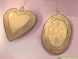 Locket Ornament How To Wear A Locket 12 Steps With Pictures Wikihow