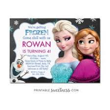 frozen birthday invitation printable frozen birthday party