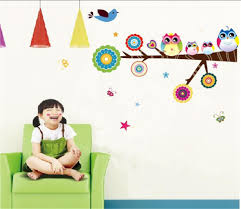aliexpress com buy owls on tree wall stickers for kids rooms