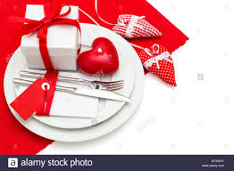 Valentine Dinner Table Decorations Romantic Valentines Day Candle Light Dinner Table Place Setting