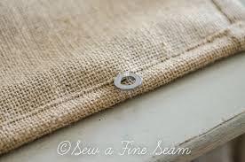 burlap roman shade sew a fine seam
