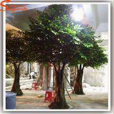 large outdoor artificial trees big cheap artificial oak tree for