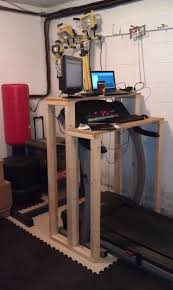 Diy Treadmill Desk How To Build A Treadmill Desk Home Storage Pinterest