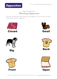opposites worksheets laminate for use with dry erase literacy