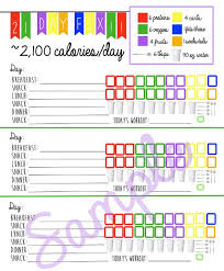 tasty 21 day fix journal recipes on pinterest calendar creator