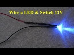 how to wire a car led and rocker switch 12v mmd youtube