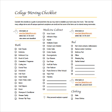 11 moving checklist templates free example sample format