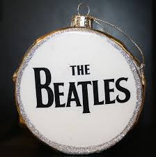 glass beatles silver drum ornament gift