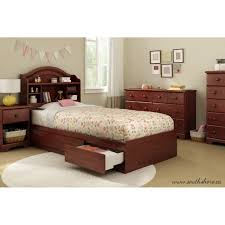 South Shore Summer Breeze Twin Mates Bed With Storage Multiple - Elegant non toxic bedroom furniture residence