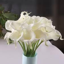 6 pcs lot artificial calla lily pvc real touch bride bouquet