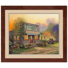 ole country store print nostalgic framed art sturbridge yankee