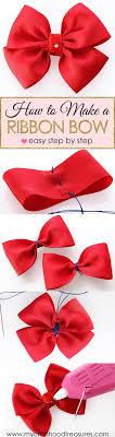ribbon bows how to make a ribbon bow easy bow treasurie