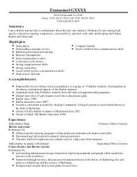 Resume Livecareer Bright And Modern Barber Resume 8 Barbers Resume Examples Beauty