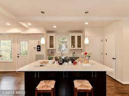 kitchen with flat panel cabinets u0026 subway tile in washington dc