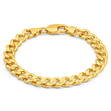 gold bracelet chain designs images Mens solid 8 inch 9ct gold curb bracelet 34 grams newburysonline jpg