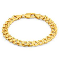 gold bracelet chain designs images Mens solid 8 inch 9ct gold curb bracelet 34 grams newburysonline jpg