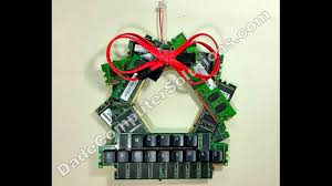 christmas wreath made of computer memory sticks youtube