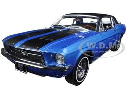 1967 blue mustang 1967 ford mustang coupe ski country special vail blue 1 18 by