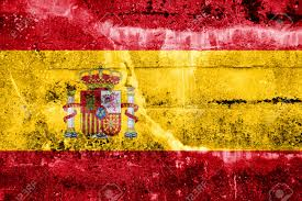 spain flag painted on grunge wall stock photo picture and royalty
