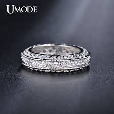 White Gold Cz Wedding Rings by Aliexpress Com Buy Umode Brand Fashion Anel Antique Eternity