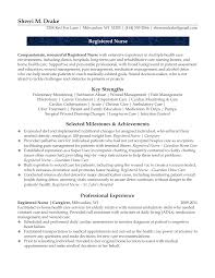 Resume Examples For Registered Nurse by Detox Nurse Sample Resume Nursing Home Nurse Resumes Biotechnology