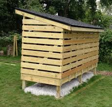 simple diy covered firewood shed storage with roof in the small