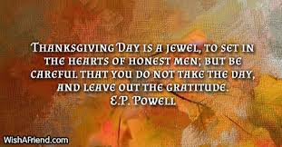 e p powell quote thanksgiving day is a to set in the