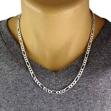 figaro mens necklace images Men 39 s 925 sterling silver figaro chain necklace 150 gauge 6 mm jpg