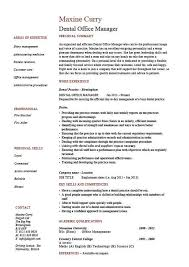 resume office free excel templatesoffice manager resume examples