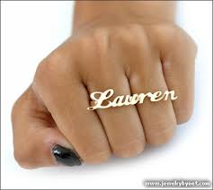 two finger name ring 2 finger name ring with your name http www jewelrybynet