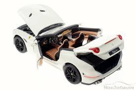 california model car california open top white bburago 16904 1 18 scale