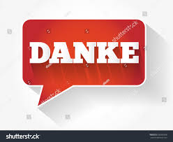 danke thank you german modern design stock vector 630385358