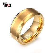 rings for men aliexpress buy vnox gold color tungsten rings for men
