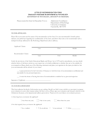 format for letter of recommendation for graduate image