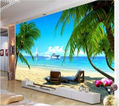 online get cheap beach wallpaper pictures aliexpress com custom mural 3d photo wallpaper coconut palm beach background room decor painting picture 3d wall murals