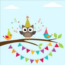 happy birthday card and cute owls vector 05 free vectors ui
