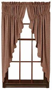 patriotic patch plaid prairie curtains scalloped 63 in allysons
