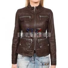 ladies fashion custom leather jacket for women