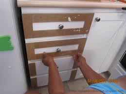 How To Reface Cabinet Doors Scrapidoodlelicious Beadboard Wallpaper In Kitchen Cabinets Diy