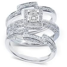 overstock wedding ring sets overstock wedding rings sets annello 14k gold 45ct tdw diamond 3