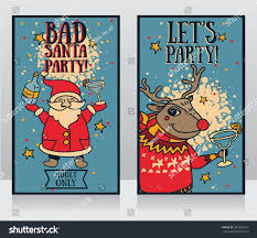 cartoon margarita two templates party banner cartoon santa stock vector 349426547