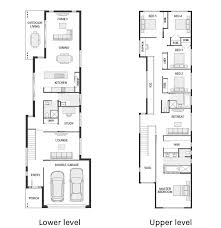 narrow house plans shining 2 storey homes designs for small blocks the 25 best narrow