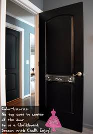 How To Paint An Interior Door by Black Doors And A Chalkboard Shabby Paints