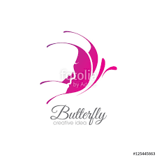 creative butterfly logo stock image and royalty free vector