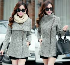 light grey woolen winter coat on luulla