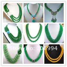 jade beads necklace images Wholesale wholesale charming 3 rows green jade bead jade clasp jpg