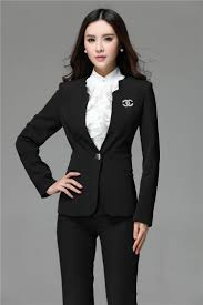 2015 formal blazer and pant set women business suits formal office