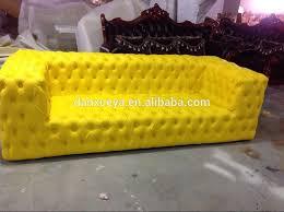 canape jaune cuir danxueya jaune classique chesterfield bouton tufté cuir canapé buy